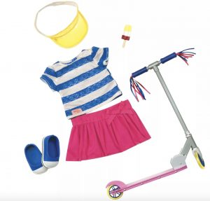 """Doll Accessories scooter for 18"""" doll"""